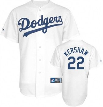 sports shoes 3c9ea 69dc7 Los Angeles Dodgers Clayton Kershaw Replica Home Baseball ...