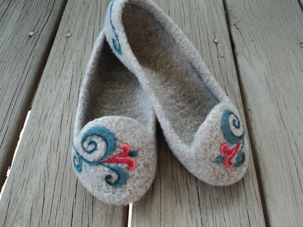 free+knit+slipper+patterns+felted | Knitting: Summer Slippers Felted Knit for Women