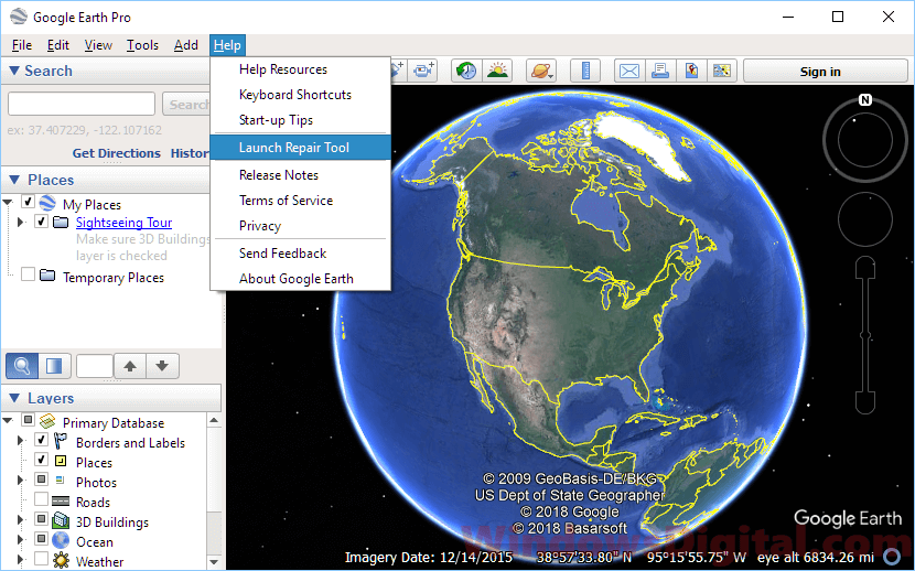 Read this fix if Google Earth Pro not working, not