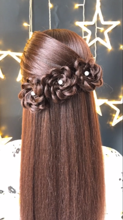 Braided Hairstyle For Long Hair Videos Simple Tutorial Bridal Hair Inspiration In 2020 Long Hair Video Hair Styles Bridal Hair Buns