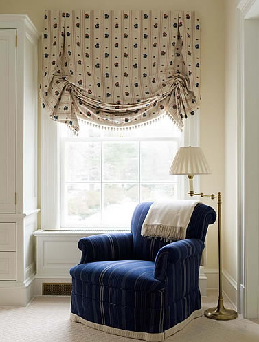 Lush Relaxed Roman Blinds Like This Are Popping Up Lots In House