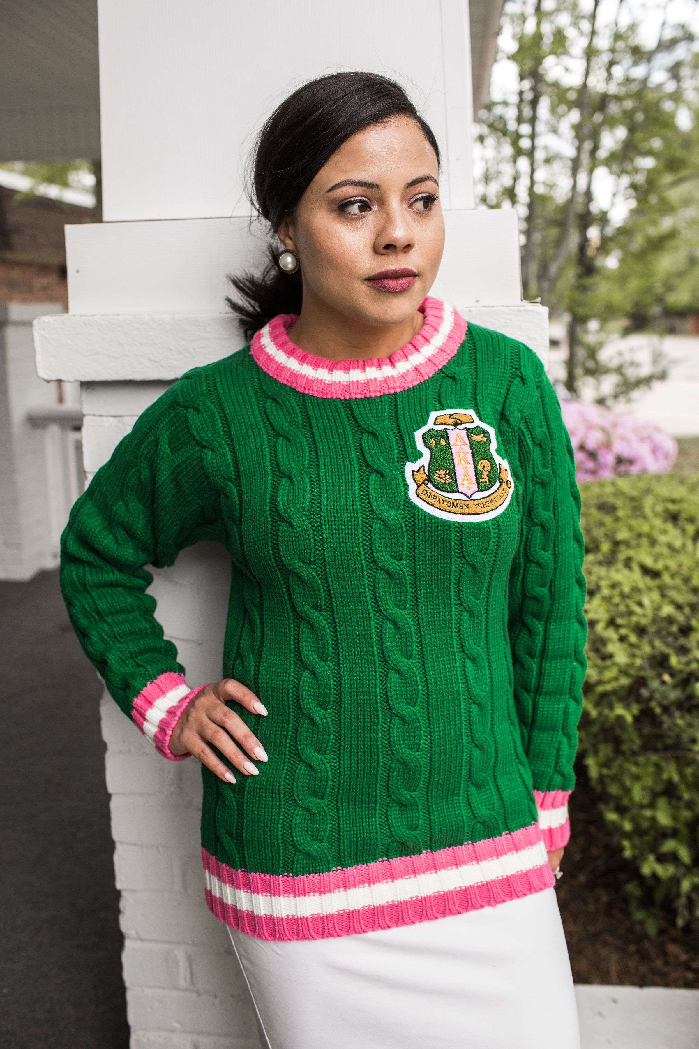 Green Cable Knit Sweater in 2019  46b75df4e