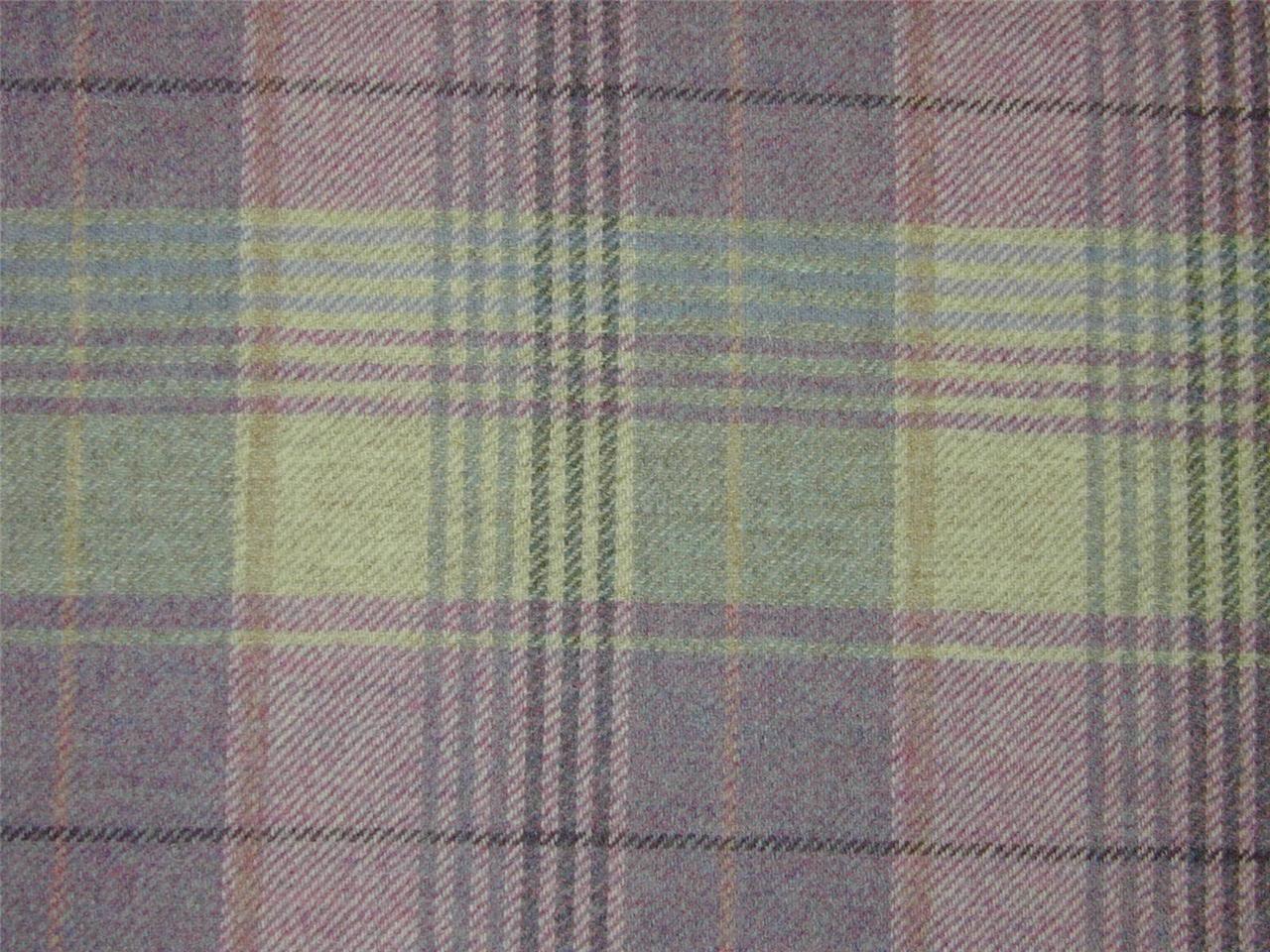 Curtain Fabric Highland Wool Tartan Heather Check Plaid