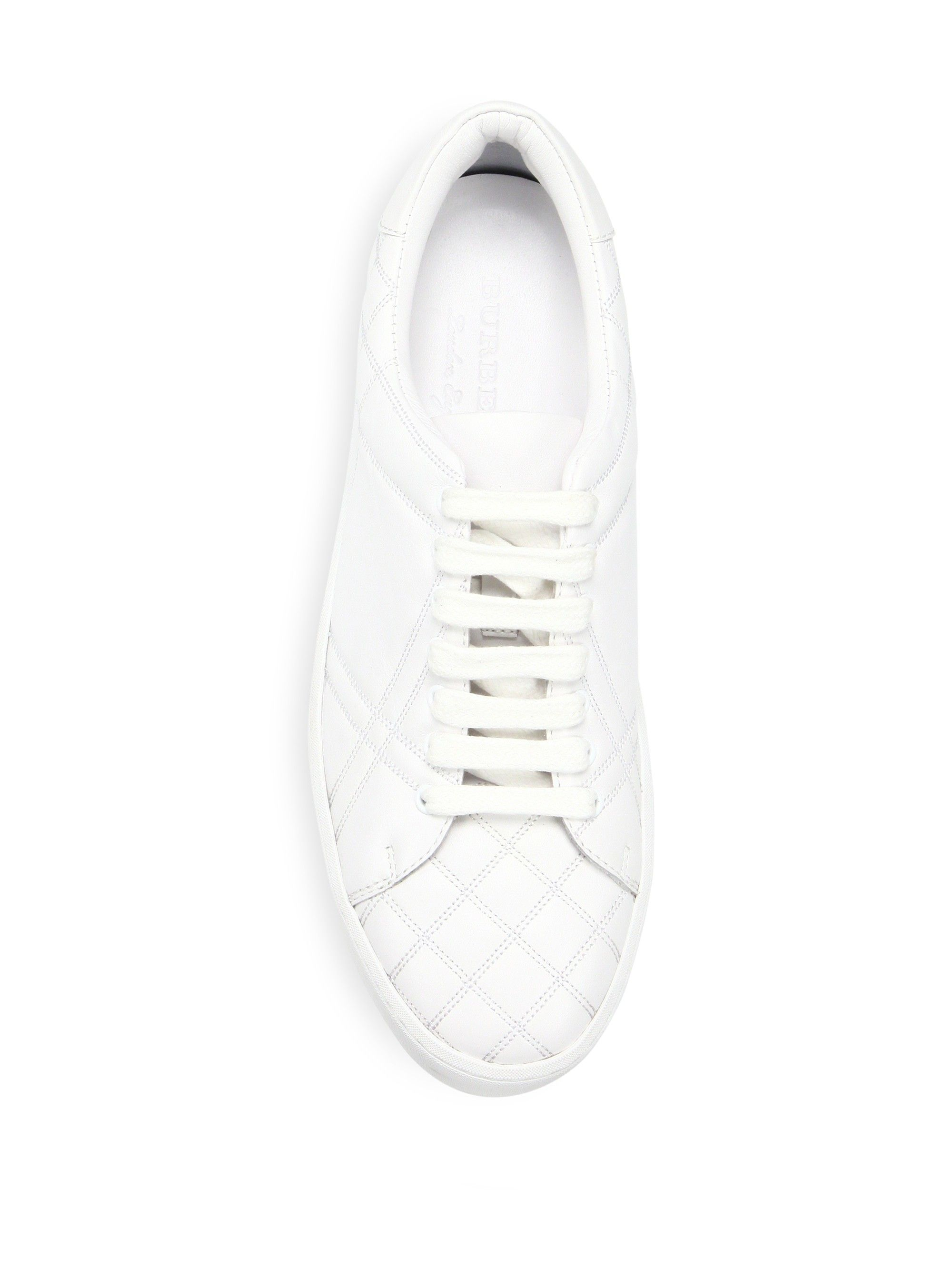 BURBERRY Westford Quilted Leather Check Sneakers. burberry burberry burberry Zapatos fe84b1