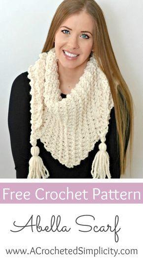 Free Crochet Pattern The Abella Triangular Scarf By A Crocheted