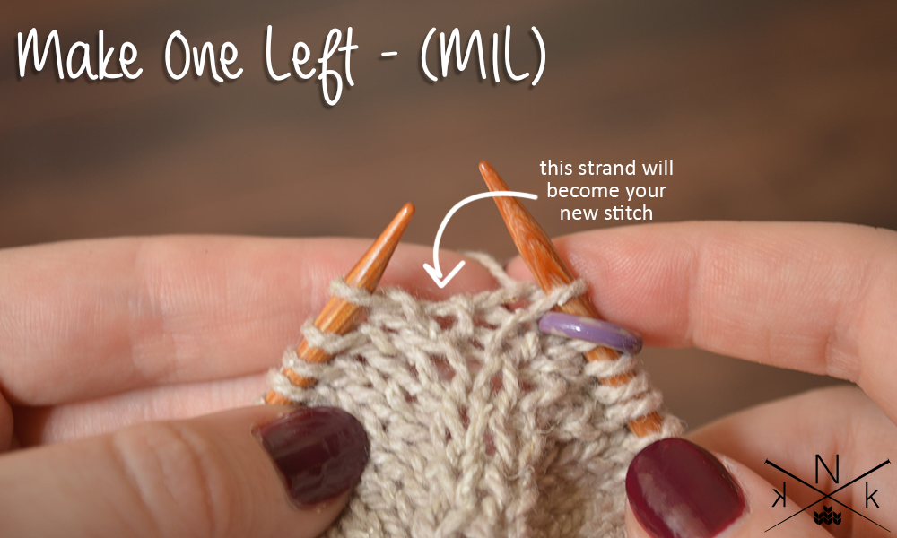 Increase One Stitch On The Left Mil Hand Knitting Pinterest