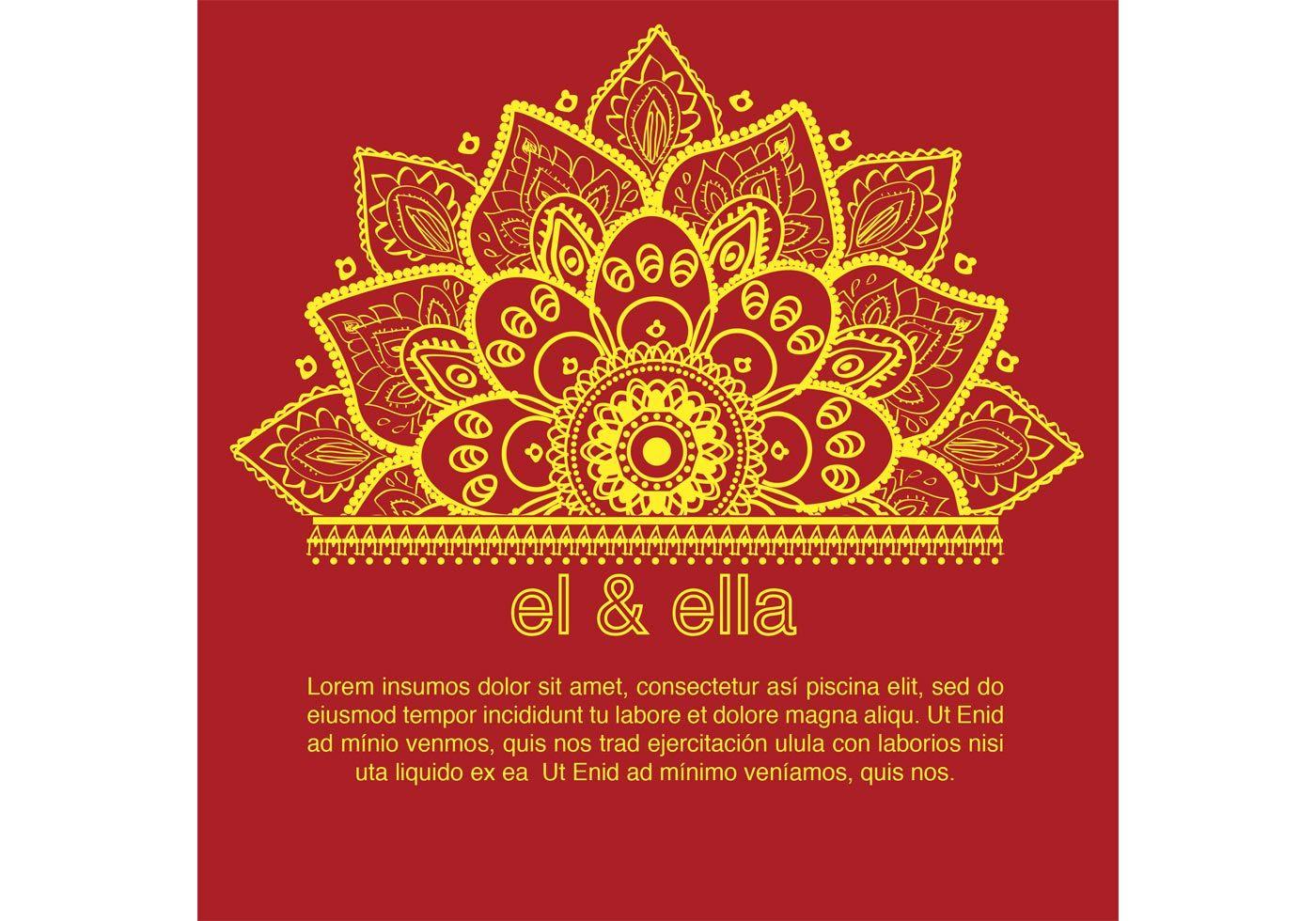 Indian Wedding Card Template