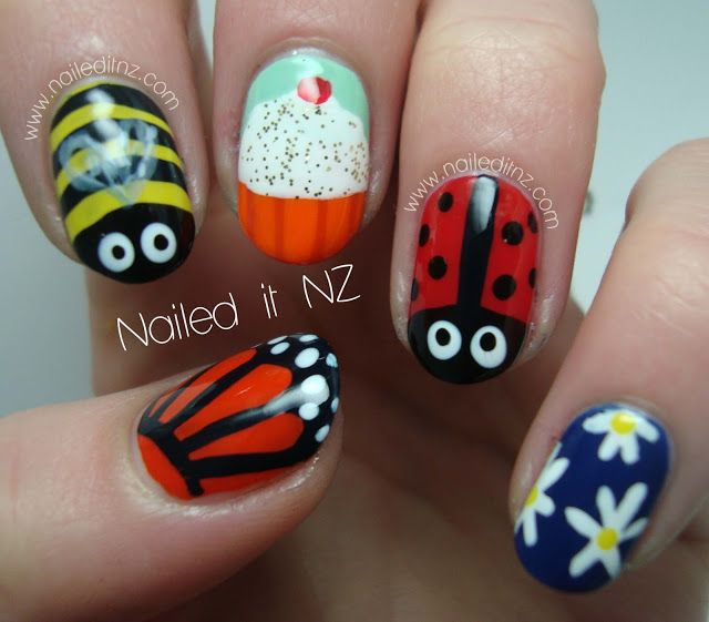 Nailed It NZ: Skittle nail art - children's version! Simple but cute ...