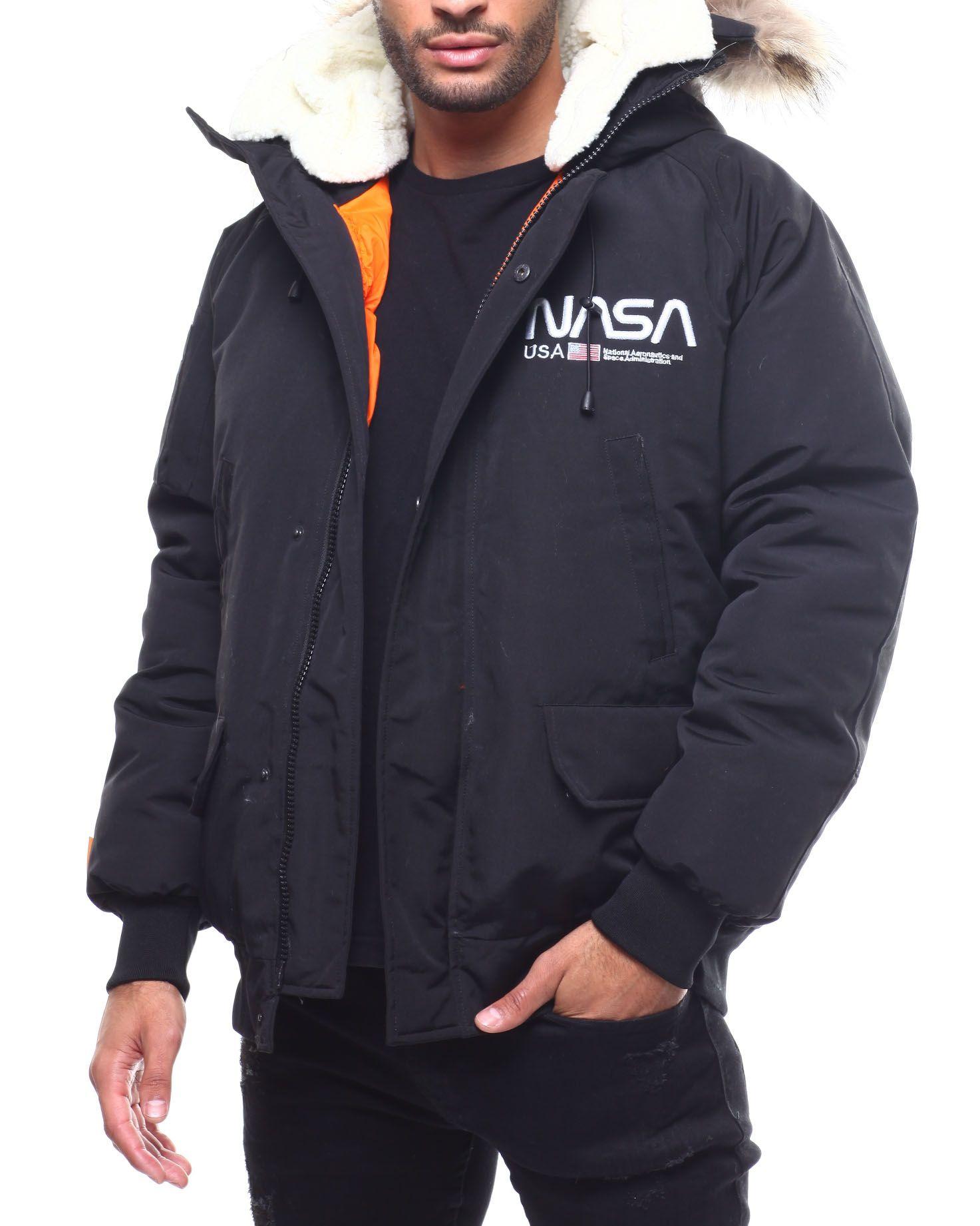 Nasa Fur Hood Bomber Jacket From Hudson Nyc At Drjays Com Nasa Jacket Dapper Men Jackets [ 1841 x 1473 Pixel ]