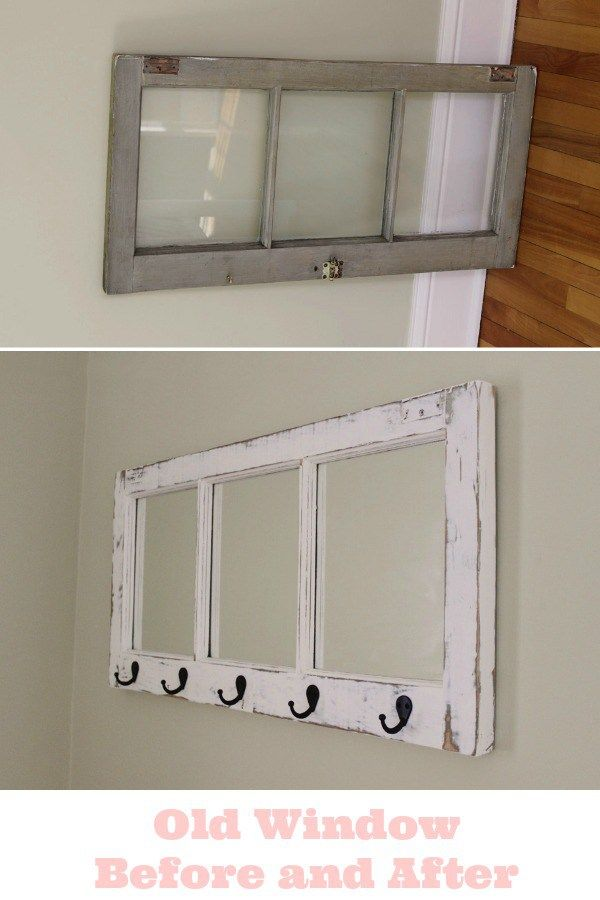 Before and After An Old Window Turns