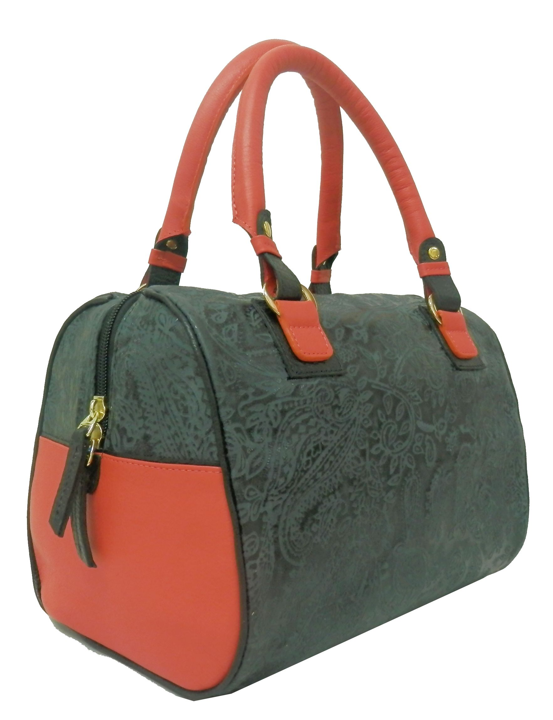 bb80422b7 Notio - Andrea Satchel Estampado REF: NTB0121419-60. Imprinted and smooth  leather baul