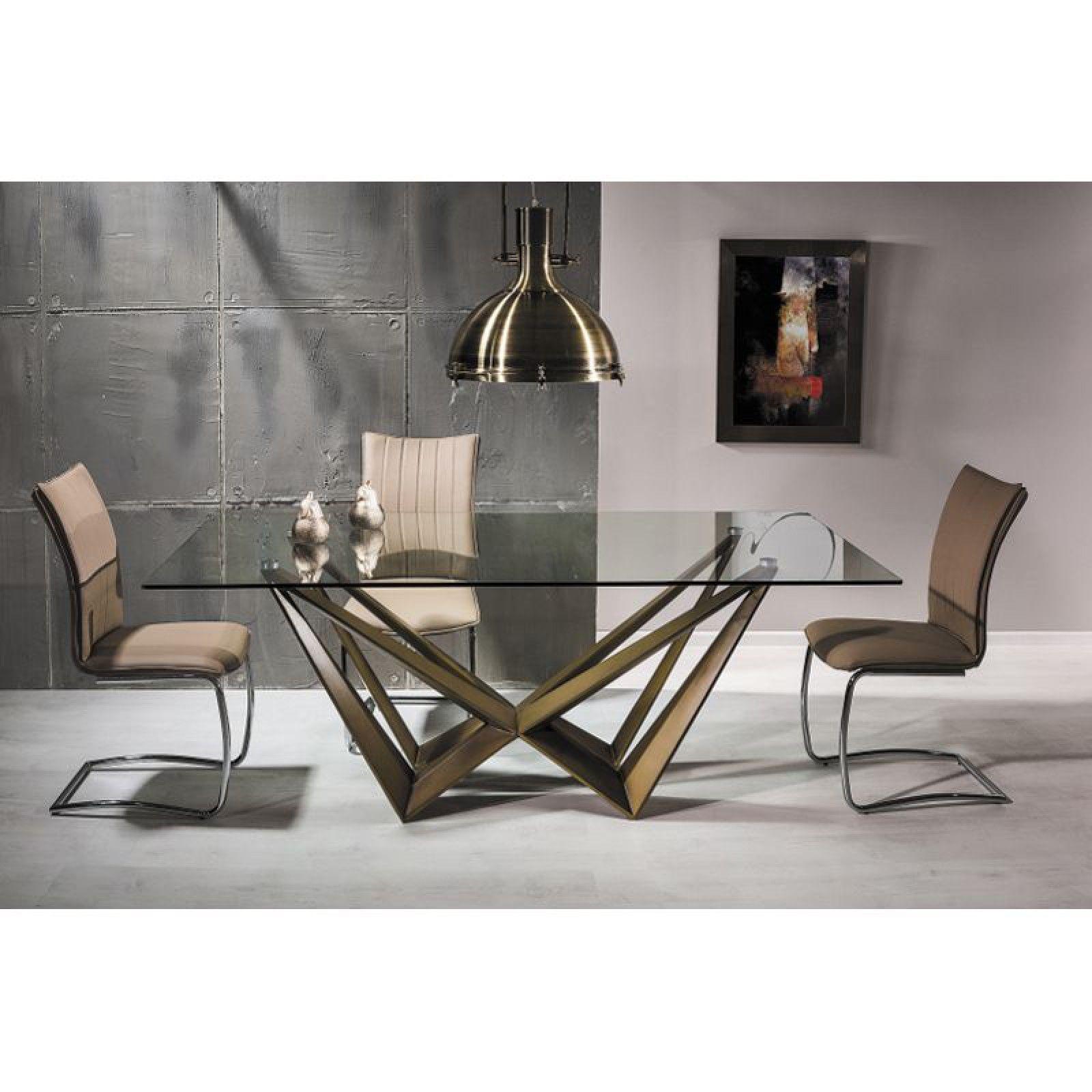 Aston Asztal 200cm Arany 8 személyes modern stílusú étkező