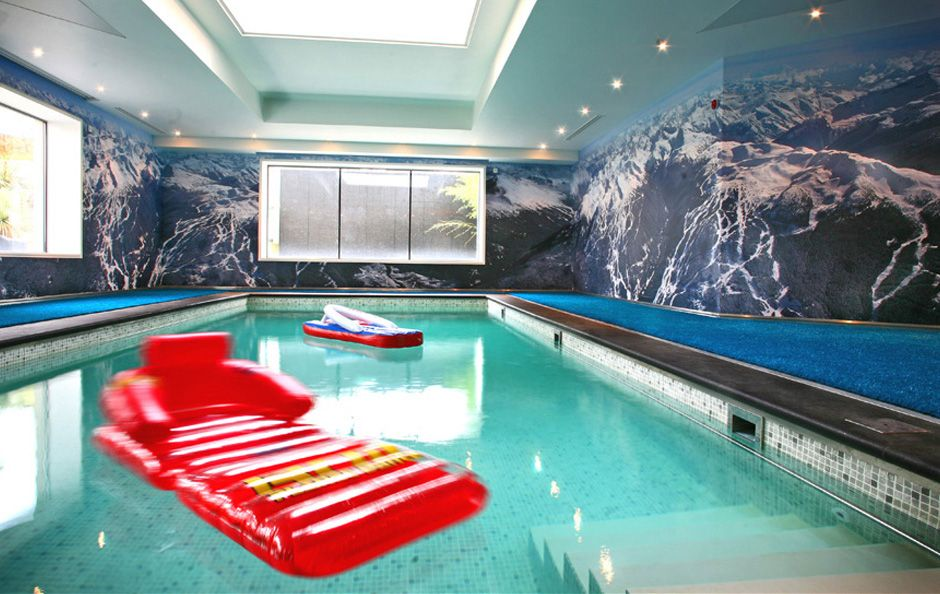 Swimming Pool | A continuous liquid laminated wall covering of ...