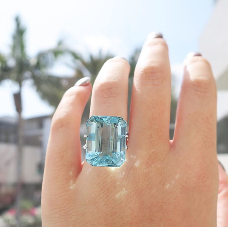 Inspired by Princess Diana's Aquamarine ring worn by
