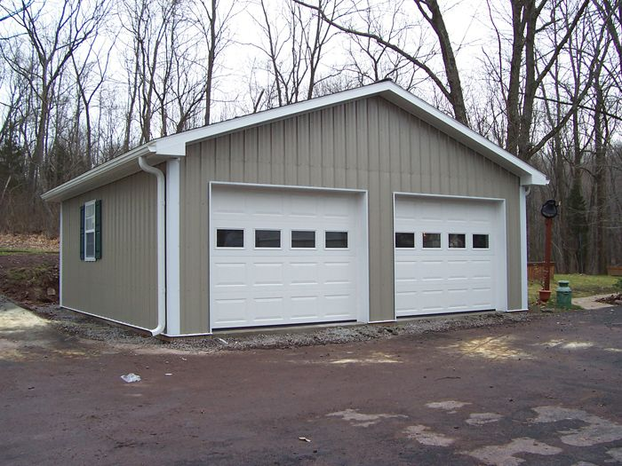 roof wide steel enclosed vertical triple metal prices garage