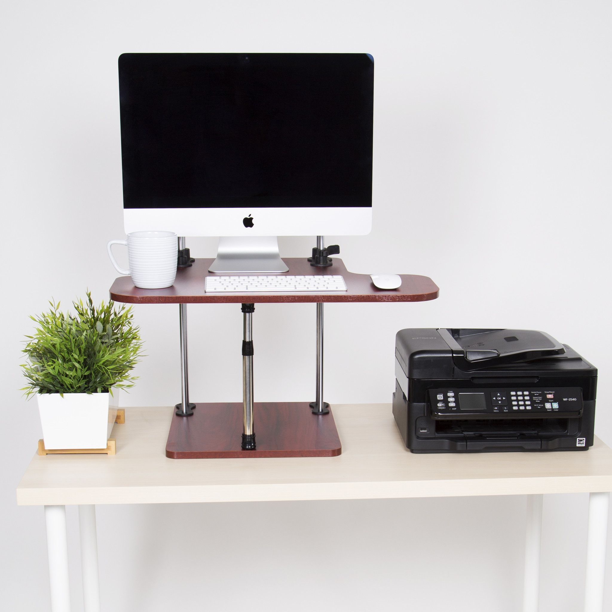Uptrak sit stand desk converter desks cubicle and products