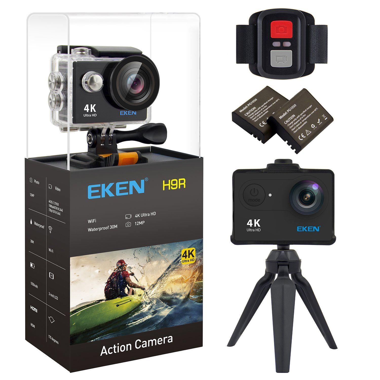 EKEN H9R 4K Action Camera, Full HD Wifi Waterproof Sports Camera ...