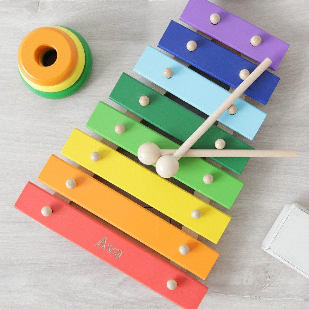 personalized wooden xylophone toy | collage parkrose