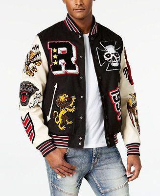 Reason Men's Street Veteran Varsity Jacket & Reviews - Coats & Jackets - Men - Macy's