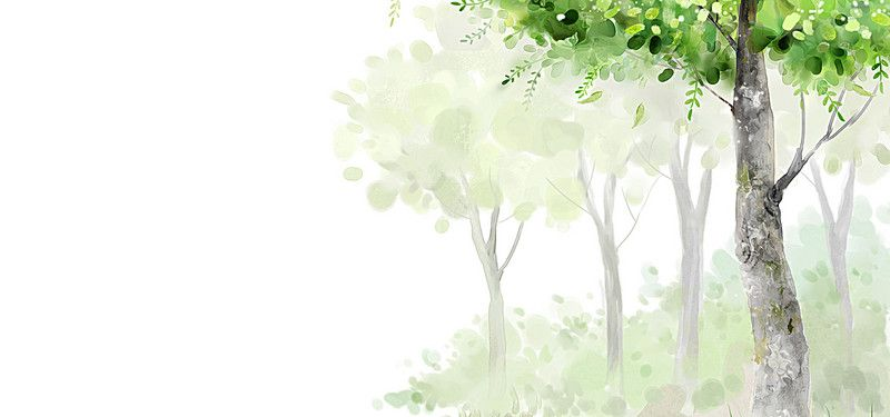 Watercolor Trees Spring Background In 2020 Watercolor Trees