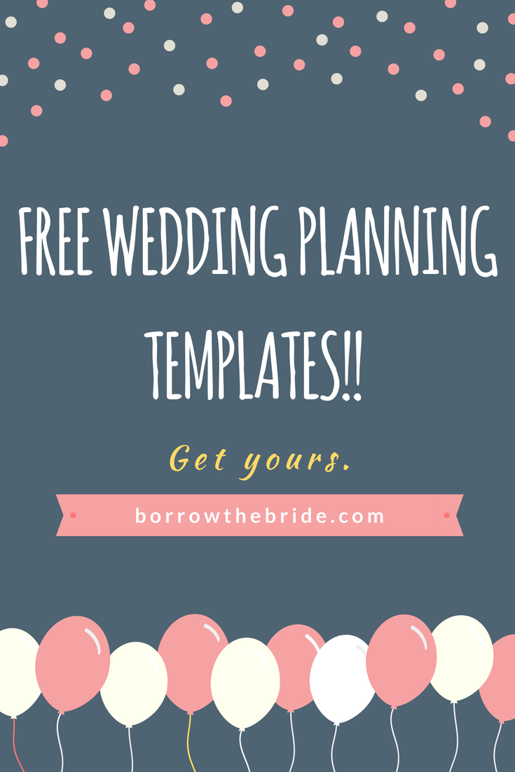 free wedding planning templates guest list spreadsheet template