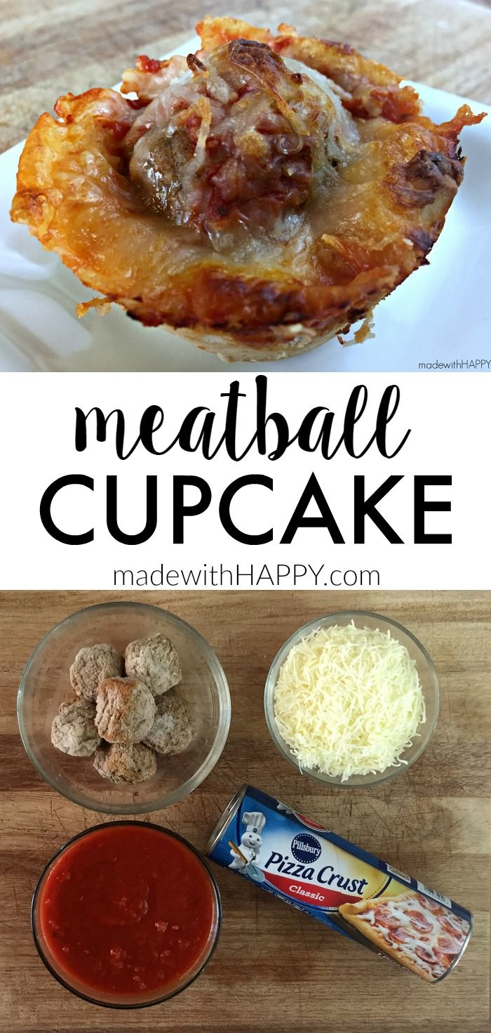 Meatball Cupcake   Quick and Easy Appetizers that are hearty and delicious  www.madewithHAPPY.com