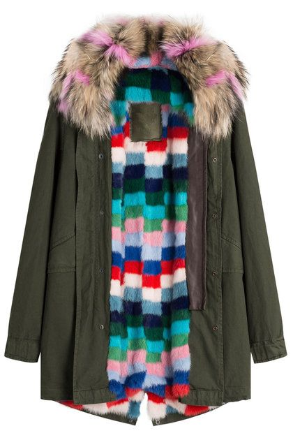 Cotton Parka with Raccoon and Mink Fur | Mr & Mrs Italy