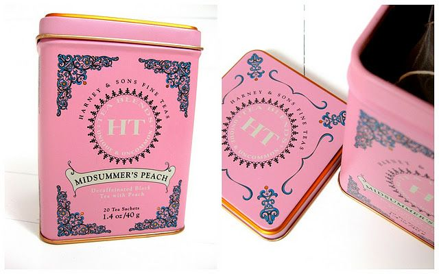 Adore the pink tea tin