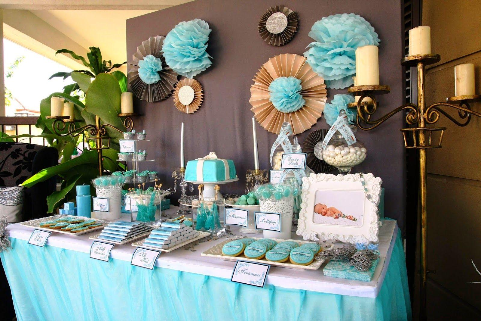 Tiffany Blue Dessert Table Lizzie As A Mummy Adrian S