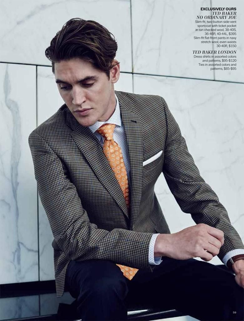 289a64f32b0e Isaac Carew Suits Up in Contemporary Styles for Lord & Taylor ...