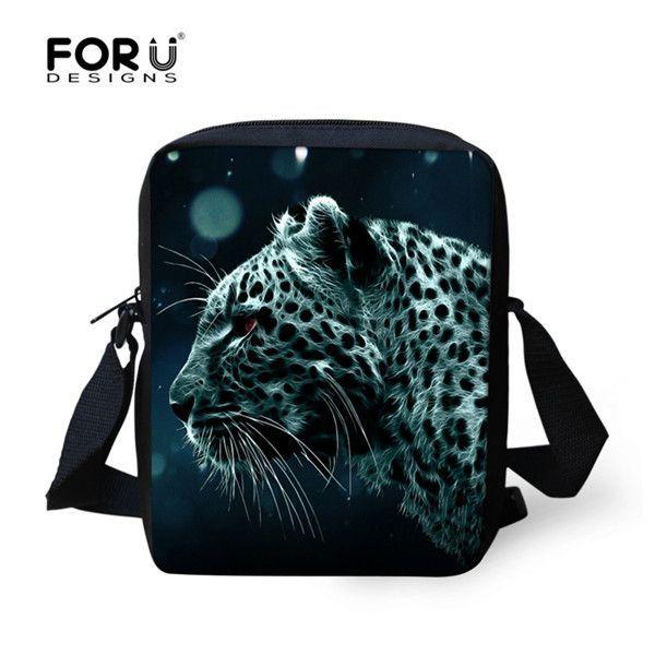 Black Cat Face Men's Messenger Bags High Quality Luxury 3D Aniamal Men Crossbody Bags Famous Brand Male Mini Sling Travel Bag