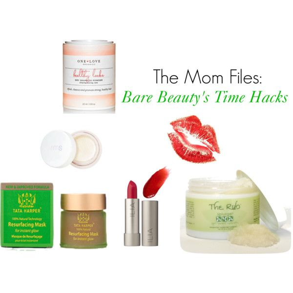 """The Mom Files: Bare Beauty's Time Hacks"" by barebeautyblog on Polyvore"