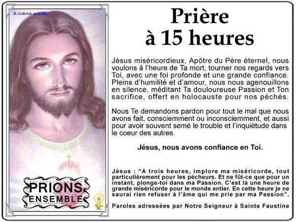 Prieres De 15 Heures Priere Cahiers De Priere Priere De Chance