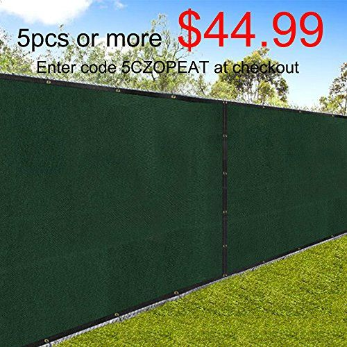 6/'x50/' Black Windscreen Privacy Fence Shade Cover Mesh Outdoor Lawn Construction
