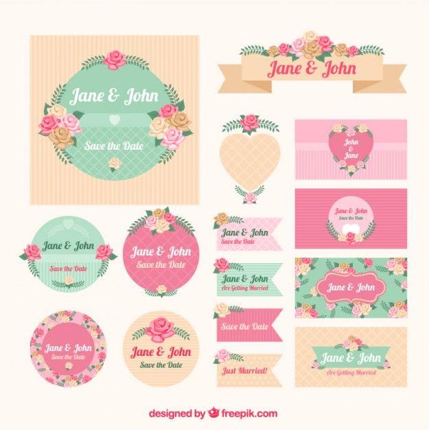 Floral stationery for wedding Free Vector Work Ideas Pinterest - fresh invitation banner vector