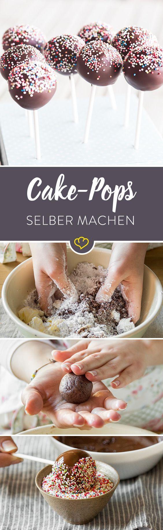 Cake Pops selber machen - wie man sie groß macht   - Mama ist die Beste! Ideen zum Muttertag -