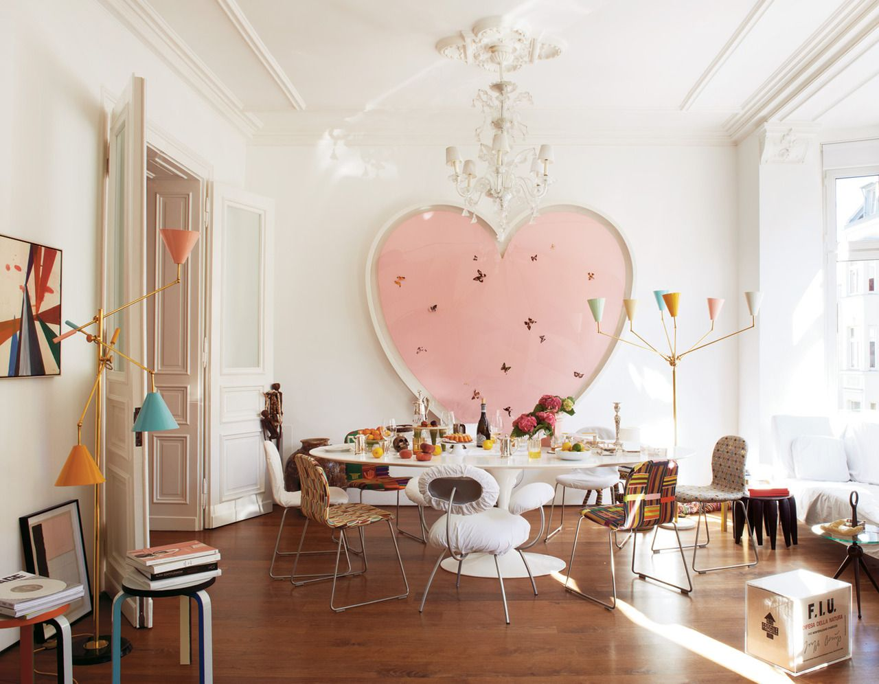 Home interiors and gifts paintings - Mike Meir And Michelle Elie Via T Mag Heart Art By Damien Hirst