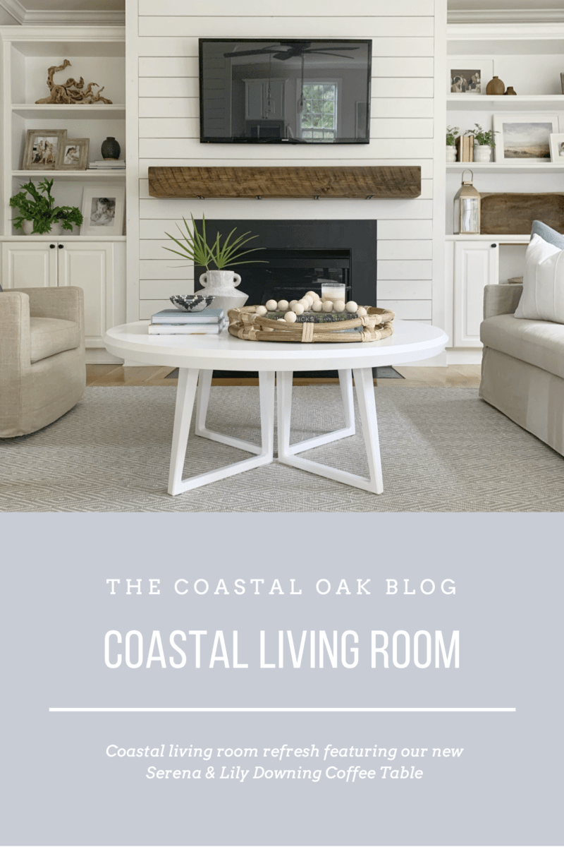 Coastal Living Room Refresh With Serena Lily Featuring The Downing Round Coffee Table Coastalho Beautiful Living Rooms Coastal Living Room Home Living Room [ 1200 x 800 Pixel ]