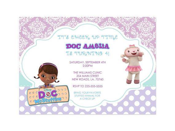 doc mcstuffins birthday invitations #docmcstuffins #party | doc, Birthday invitations
