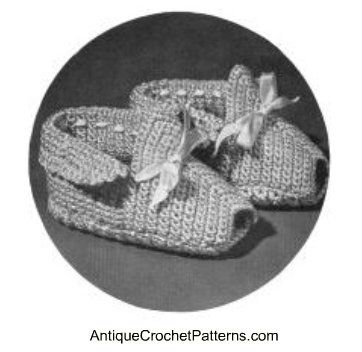 Baby Bootie Pattern Love The Vintage Patterns Baby Crochet