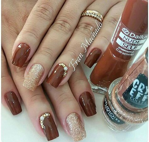 15+ Ideas Nails Ideas Burgundy Fall For 2019 | Burgundy nails, Tan nails, Trendy nails