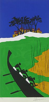 Maqbool Fida Husain - Folklore Kerala - VIII @ Serigraphs III: M F Husain | StoryLTD.com I #Indianart #MFHusain #Modern art