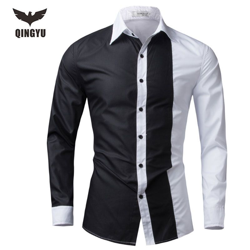 Men Shirt Long Sleeve 2016 Brand Shirts Men Casual Male Slim Fit ...