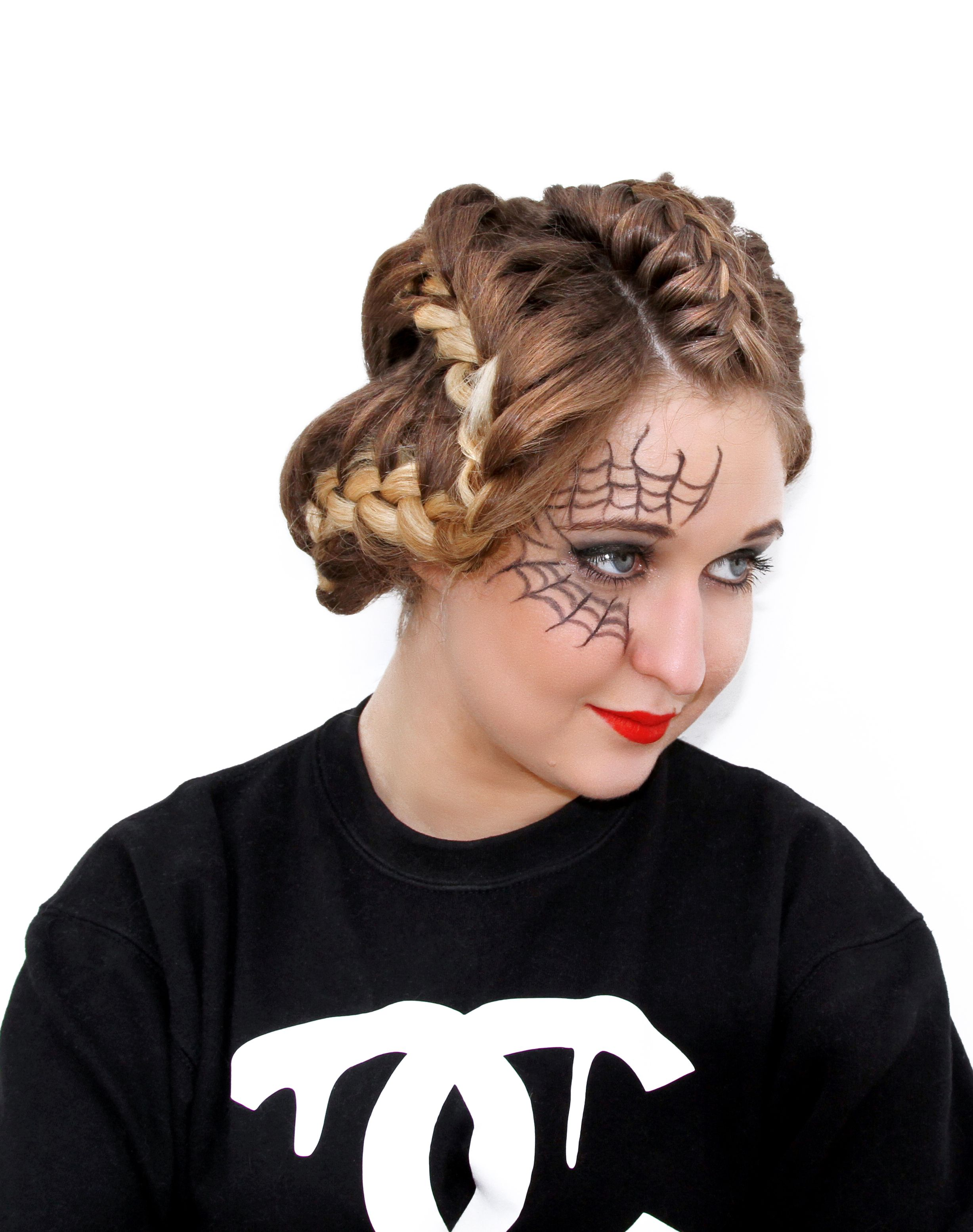 avant garde hair. halloween hairstyle by #tatianahairextensions