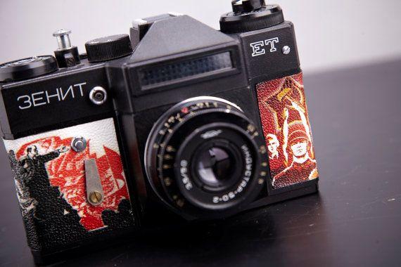 Vintage Camera Zenit Et Slr Film Camera Working Replaced Body