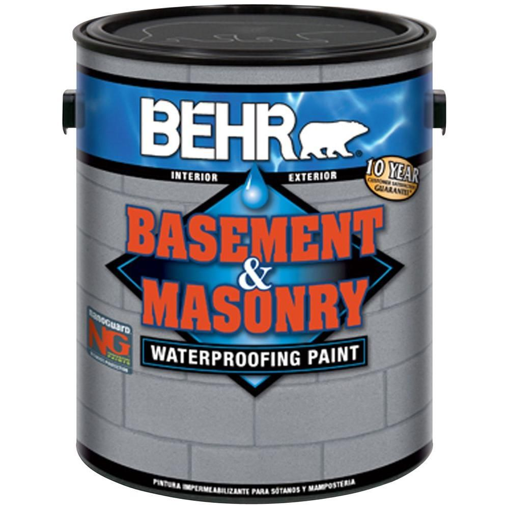 Behr Premium 1 Gal 876 Basement Gray Basement And Masonry Waterproofer Gray Basement Basement Waterproofing Paint Waterproofing Basement