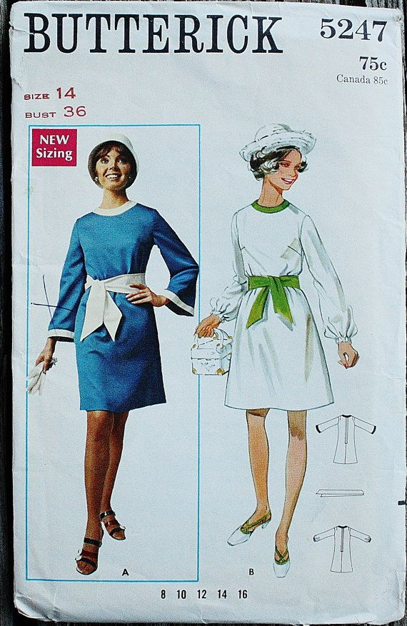 Butterick 5247 1960s 60s Mini Mod Bell by EleanorMeriwether
