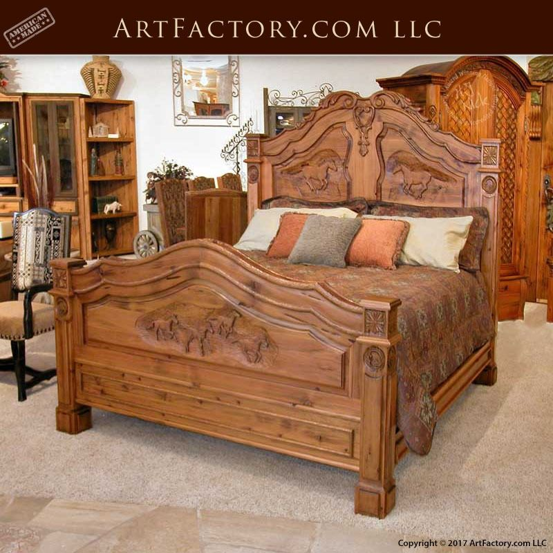 French Equestrian Hand Carved Bed Louis Xiv Inspired Design Cfb211 Bed Design Carved Beds Wood Bed Design