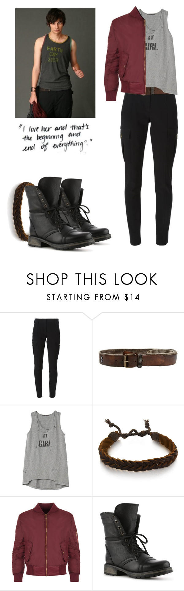"""""""Jasper Jordan - The 100"""" by shadyannon ❤ liked on Polyvore featuring DKNY, Gioelli Designs, WearAll and Steve Madden"""