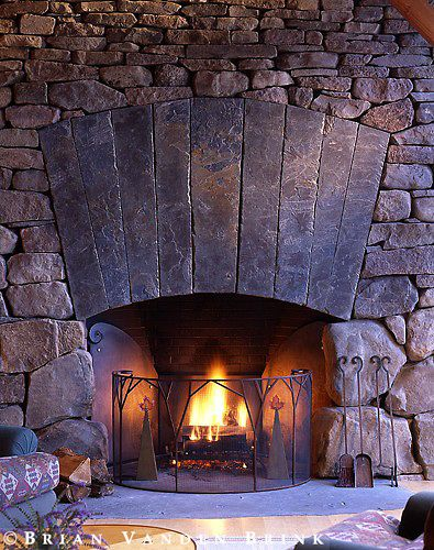 Design: Centerbrook Architects | Stone fireplace pictures ...